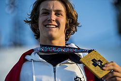 May 19, 2018 - Fornebu, NORWAY - 180519 Birk Ruud of Norway celebrates after the men's big air ski finals during X Games Norway on May 19, 2018 in Oslo. .Photo: Vegard Wivestad Grøtt / BILDBYRÃ…N / kod VG / 170170 (Credit Image: © Vegard Wivestad GrØTt/Bildbyran via ZUMA Press)