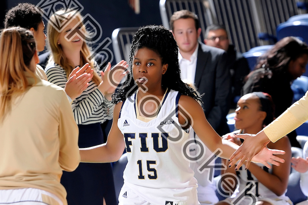 2016 January 23 - FIU's Kristian Hudson (15). <br /> Florida International University fell to UTEP, 57-69, at FIU Arena, Miami, Florida. (Photo by: Alex J. Hernandez / photobokeh.com) This image is copyright by PhotoBokeh.com and may not be reproduced or retransmitted without express written consent of PhotoBokeh.com. ©2016 PhotoBokeh.com - All Rights Reserved