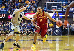 Mar 6, 2019; Morgantown, WV, USA; Iowa State Cyclones guard Talen Horton-Tucker (11) dribbles during the first half against the West Virginia Mountaineers at WVU Coliseum. Mandatory Credit: Ben Queen-USA TODAY Sports