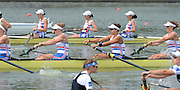 Chungju, South Korea.  GBR W8+. Bow. Beth RODFORD, Melanie WILSON, Caragh MCMURTY, Louisa REEVE, Jessica EDDIE, Zoe LEE, Katie GREVES, Oliva CARNEGIE-BROWN and cox Zoe DE TOLEDO, at the start. 2013 World Rowing Championships, Tangeum Lake, International Regatta Course. 11:38:04  Wednesday  28/08/2013 [Mandatory Credit. Peter Spurrier/Intersport Images]