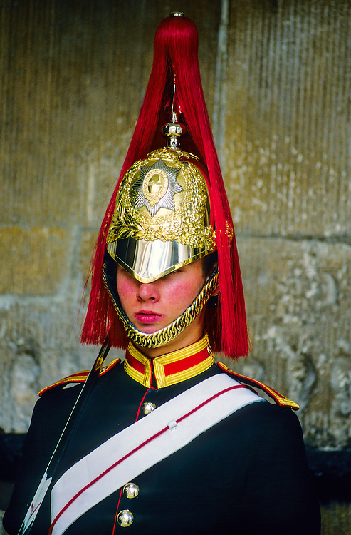 Blues and Royals Guard regiment, The Horse Guards, Whitehall, London, England