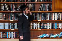 Hassidic Jew in the Western Wall Plaza, Western Wall (Wailing Wall), Old City, Jerusalem, Israel.