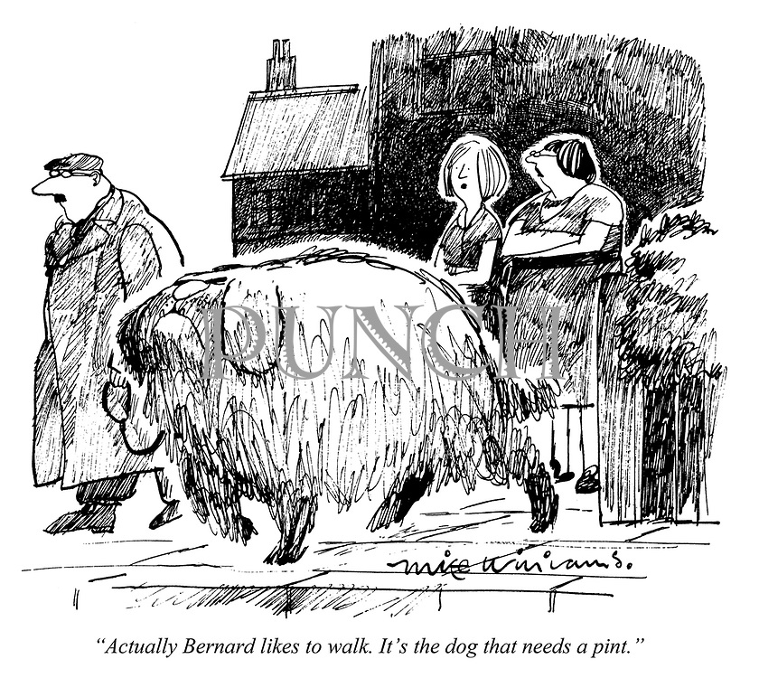 """""""Actually Bernard likes to walk. It's the dog that needs a pint."""""""