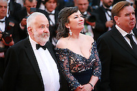 Director Mike Leigh, Actress Marion Bailey and actor Timothy Spall at the the Mr. Turner gala screening red carpet at the 67th Cannes Film Festival France. Thursday 15th May 2014 in Cannes Film Festival, France.