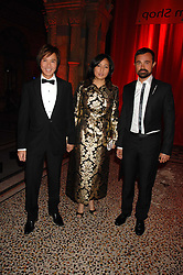 Left to right, ANDY & PATTI WONG and EVGENY LEBEDEV at a dinner held at the Natural History Museum to celebrate the re-opening of their store at 175-177 New Bond Street, London on 17th October 2007.<br /><br />NON EXCLUSIVE - WORLD RIGHTS