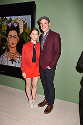 Daniel Lapaine and his daughter Sonny at a preview of the 'From Selfie To Self-Expression' exhibition at The Saatchi Gallery, Duke Of York's HQ, King's Road, London, England. 30 March 2017.