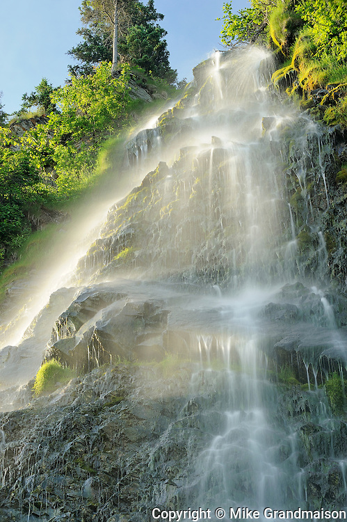 Waterfall on side of highway<br /> La Martre<br /> Quebec<br /> Canada