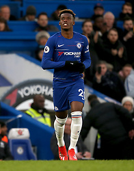 Chelsea's Callum Hudson-Odoi comes on as a substitute for Eden Hazard during the match
