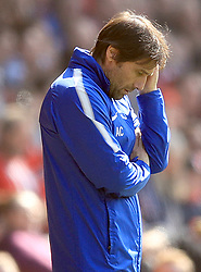 Chelsea manager Antonio Conte appears dejected during the Premier League match at St Mary's Stadium, Southampton.