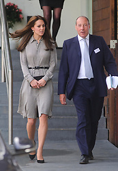 © Licensed to London News Pictures.  17/09/2015  London, UK. The Duchess of Cambridge leaves The Anna Freud Centre, London after seeing how the charity is working in children's and young people's mental health care. Photo credit : Simon Jacobs/LNP
