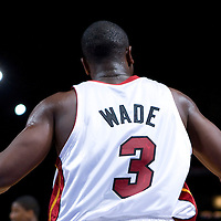9 October 2008: Dwyane Wade of the Miami Heat reacts during the New Jersey Nets 100-98 overtime victory over the Miami Heat in an exhibition game at Bercy Arena, in Paris, France.