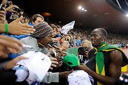 30.08.2012, Stadion Letzigrund, Zuerich, SUI, Leichtathletik, Weltklasse Zurich 2012, im Bild Sieger Usain Bolt (JAM), 200m Maenner // during Athletics World Class Zurich 2012 at Letzigrund Stadium, Zurich, Switzerland on 2012/08/30. EXPA Pictures © 2012, PhotoCredit: EXPA/ Freshfocus/ Valeriano Di Domenico..***** ATTENTION - for AUT, SLO, CRO, SRB, BIH only *****