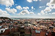 View from Miradouro Senhora do Monte to Lisbon.<br /> Lisbon, Portugal