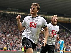 Chris Martin of Derby County celebrates his second goal - Mandatory byline: Robbie Stephenson/JMP - 07966 386802 - 18/10/2015 - FOOTBALL - iPro Stadium - Derby, England - Derby County v Wolverhampton Wanderers - Sky Bet Championship