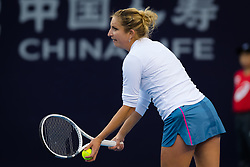September 29, 2018 - Timea Bacsinszky of Switzerland in action during her first-round match at the 2018 China Open WTA Premier Mandatory tennis tournament (Credit Image: © AFP7 via ZUMA Wire)