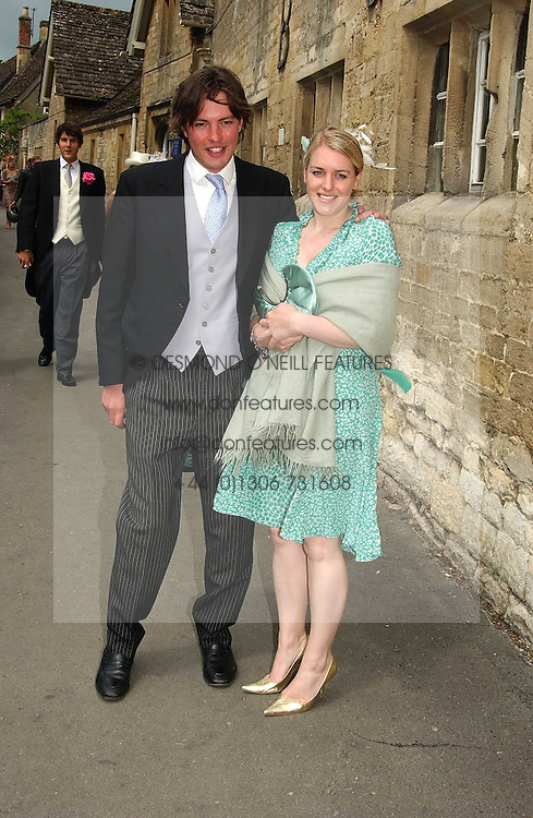 LAURA PARKER BOWLES and MR HARRY LOPEZ at the wedding of Hugh van Cutsem to Rose Astor in Burford, Oxfordshire on 4th June 2005.<br /><br />NON EXCLUSIVE - WORLD RIGHTS