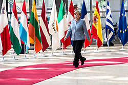 April 29, 2017 - Brussels, Bxl, Belgium - German Federal Chancellor ANGELA MERKEL arrives prior to the European Summit on Article 50 Brexit at European Council headquarters in Brussels. (Credit Image: © Wiktor Dabkowski via ZUMA Wire)