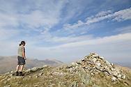 Summit of Y Foel Goch, Carneddau in background.
