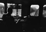 Med rälsbuss på Inlandsbanan.