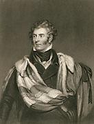 'Thomas Phillip Weddell Robinson , 2nd Earl de Grey 1781-1859), British Tory statesman. Engraving, London, 1829.'