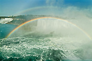 Niagara Falls and rainbow <br />Niagara Falls<br />Ontario<br />Canada