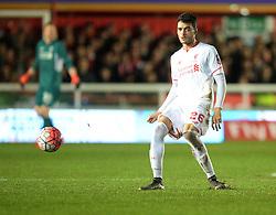 Tiago Ilori of Liverpool - Mandatory byline: Alex James/JMP - 08/01/2016 - FOOTBALL - St James Park - Exeter, England - Exeter City v Liverpool - FA Cup Third Round