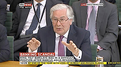 © Licensed to London News Pictures. 17/07/2012. London, UK. SIR MERVYN KING. Bank of England Governor Sir Mervyn King and his Deputy Paul Tucker are facing questions from MPs on the Commons Select Committee on the banks efforts to bring the British economy out of a double-dip recession, they were also asked about the Libor scandal.. Photo credit : LNP