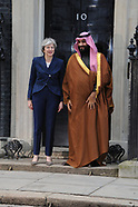 Prime Minister Theresa May and Mohammad bin Salman, the Crown Prince of Saudi Arabia