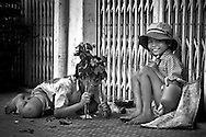 Children of the street in Cantho in the Mekong Delta.