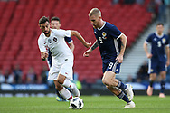Scotland forward Oliver McBurnie (9) (Swansea City)  during the Friendly international match between Scotland and Portugal at Hampden Park, Glasgow, United Kingdom on 14 October 2018.