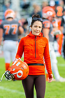 KELOWNA, BC - OCTOBER 6: Athletic therapist Sammy Levin walks off the field at the Apple Bowl on October 6, 2019 in Kelowna, Canada. (Photo by Marissa Baecker/Shoot the Breeze)