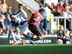 Billy Bodin of Bristol Rovers is tackled by James Meredith of Bradford City- Mandatory by-line: Alex James/JMP - 17/09/2016 - FOOTBALL - Coral Windows Stadium - Bradford, England - Bradford City v Bristol Rovers - Sky Bet League One