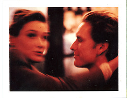 Supermodel Carla Bruni and Michael. <br /> Daniel Hechter Paris circa 1990 Advertising Campaign. <br /> Polaroid Type 668 Polacolor Land Film.<br /> Photographer © Amyn Nasser. <br /> All Rights Reserved. <br /> Photographed in Paris, France.<br /> <br /> Gear and Technical Details: <br /> Shot on Nikon F2A Nikon F4 <br /> 35mm F1.4 50mm F1.4 85mm F1.4 200 mm F2.0 ED-IF <br /> Flash: Profoto 2400 Watt-seconds Studio Strobes with Photek GoodLiter II Half Silver Umbrellas. <br /> Film: <br /> Kodak Ektachrome 35mm EES 400 push 800-1600 push process.<br /> 35mm Black & White Kodak Tri-X Push Process ISO 1000 Processed at 1200 -1400 ISO Hand Printed by IMAGENOIR Paris on ILFORD Bromide Grade 3. Hand Copper Toned, Air Dry, Heat Pressed. <br /> RePurposed 35mm Transparency Film Artwork Third Generation for the Campaign. Transparency Film  processed by PICTO Lab Paris. <br /> Location Van and Strobes provided by Pin-Up Studios Paris, France.