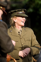 A female reenactor portraying a member of the Auxiliary Territorial Service (ATS) during the Pickering 1940s war weekend October 2009 Image Copyright Paul David Drabble