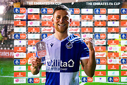 Alfie Kilgour of Bristol Rovers receives the man of the match award after the final whistle of the match - Mandatory by-line: Ryan Hiscott/JMP - 17/12/2019 - FOOTBALL - Home Park - Plymouth, England - Plymouth Argyle v Bristol Rovers - Emirates FA Cup second round replay