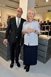 STANLEY TUCCI and MIRANDA RICHARDSON at a private view of Dancing Away featuring work by Mikhail Baryshnikov held at ContiniArtUK, 105 New Bond Street, London on 27th November 2014.