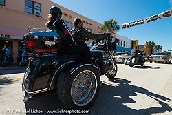 Riding Main Street during Daytona Bike Week. FL, USA. March 8, 2014.  Photography ©2014 Michael Lichter.