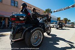 Riding Main Street during Daytona Bike Week. FL, USA. March 8, 2014.  Photography ©2014 Michael Lichter.