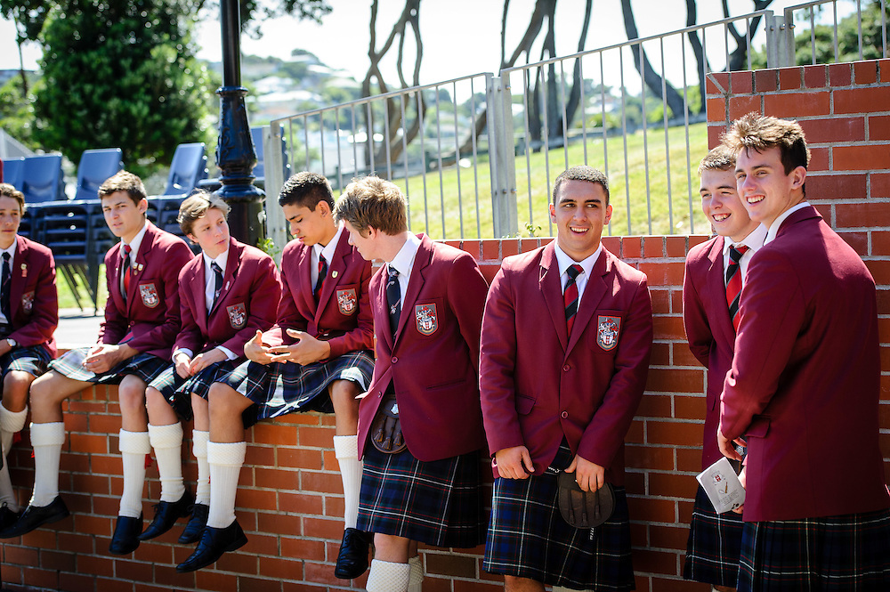 WELLINGTON, NEW ZEALAND - February 02: Whole school chapel service. February 02, 2016 in Wellington, New Zealand.  Scots College Centenary: Whole school chapel serivce..  (Photo by Mark Tantrum)