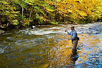 Jay Ericson fly fishing for trout on the upper Connecticut River in northern New Hampshire. fly fishing for trout on the upper Connecticut River in northern New Hampshire.