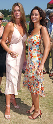 Left to right, CELIA WALDEN and KIKI KING at the Veuve Clicquot sponsored Gold Cup Final or the British Open Polo Championship held at Cowdray Park, West Sussex on 17th July 2005.<br /><br />NON EXCLUSIVE - WORLD RIGHTS