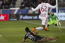 March 13, 2018 - Harrison, New Jersey, United States - Michael Murillo (62) of Red Bulls & Hiram Munoz (30) of Club Tijuana collide during Scotiabank Concacaf Champions League quarterfinal second leg game at Red Bull Arena Red Bulls won 3 - 1 (5 - 1 on aggregate) (Credit Image: © Lev Radin/Pacific Press via ZUMA Wire)