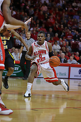 18 February 2009: Osiris Eldridge fakes a move towards the bucket. The Illinois State University Redbirds took the charge out of the Wichita State Shockers 74-59 on Doug Collins Court inside Redbird Arena on the campus of Illinois State University in Normal Illinois