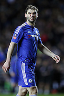 Branislav Ivanovic of Chelsea looks on. The Emirates FA cup, 4th round match, MK Dons v Chelsea at the Stadium MK in Milton Keynes on Sunday 31st January 2016.<br /> pic by John Patrick Fletcher, Andrew Orchard sports photography.