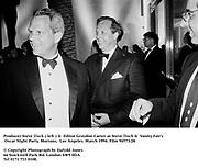 Producer Steve Tisch ( left ) &  Editor Graydon Carter at Steve Tisch &  Vanity Fair's Oscar Night Party,<br />Mortons,  Los Angeles. March 1994. <br /><br />© Copyright Photograph by Dafydd Jones<br />66 Stockwell Park Rd. London SW9 0DA<br />Tel 0171 733 0108.   Film 94573/28