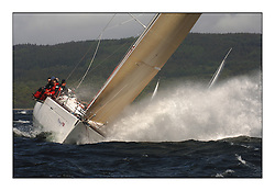 Day 2 of the Bell Lawrie Scottish Series with wild conditions on Loch Fyne for all fleets. Exhilarating and testing racing for Boats and crew..GBR603R Playing FTSE heading upwind in Class 1..