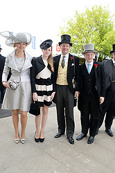 The EARL & COUNTESS OF DERBY and their children LORD STANLEY and LADY HENRIETTA STANLEY at the Investec Derby 2013 held at Epsom Racecourse, Epsom, Surrey on 1st June 2013.