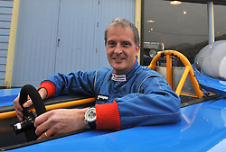 ©London News pictures...16/11/2010. Launch of an attempt by Don Wales today (Tuesday), holder of the UK Land Speed Record for an electric car, to break his own record and exceed the outright record set by his grandfather, Sir Malcolm Campbell, in 1925. Wales hopes to take the record well beyond 150mph - the speed Sir Malcolm clocked in 1925. Brooklands Museum, Brooklands Road, Weybridge, Surrey. Picture caption should read Stephen Simpson/London News Pictures.
