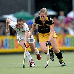 20-05-2007 HOCKEY: FINALE PLAY OFF: DEN BOSCH - AMSTERDAM: DEN BOSCH <br /> Den Bosch voor de tiende keer op rij kampioen van de Rabo Hoofdklasse Dames. In de beslissende finale versloegen zij Amsterdam met 2-0 / Marieke Mattheussens en Vera Vorstenbosch<br /> ©2007-WWW.FOTOHOOGENDOORN.NL