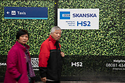 With an imminent decision expected from the government which will determine if the controversial transport project will continue to go ahead, construction continues for HS2 at Euston Railway Station on 30th January 2020 in London, England, United Kingdom. High Speed 2 is a high-speed railway in the United Kingdom, partly under construction. Parliament approved plans for the first section in 2017, with clearance work being undertaken for the line and stations.